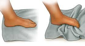 Towel curl exercise for the foot Plantar fasciitis exercises