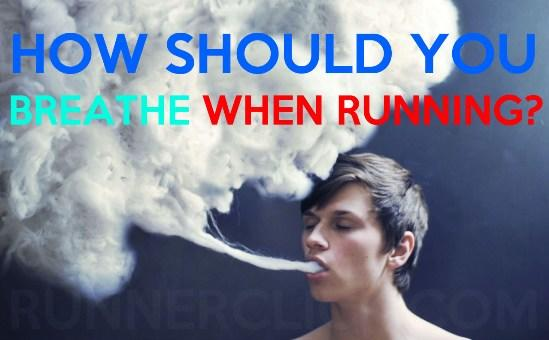 How should you breathe when running