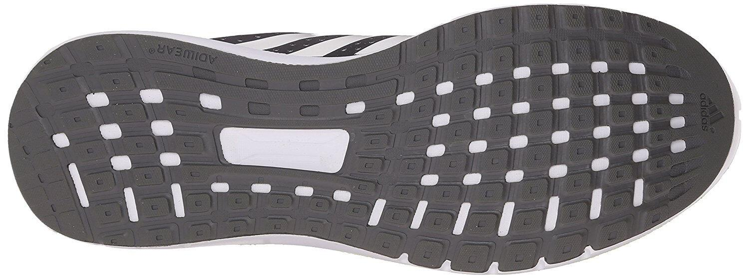 While not very flexible, the outsole of the Adidas Duramo 7 is highly stable.