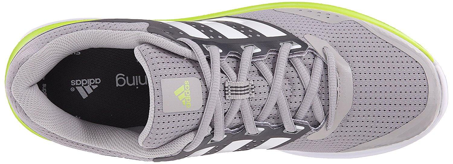 Air mesh fabric on the Adidas Duramo 7's upper provides excellent lightweight breathability.