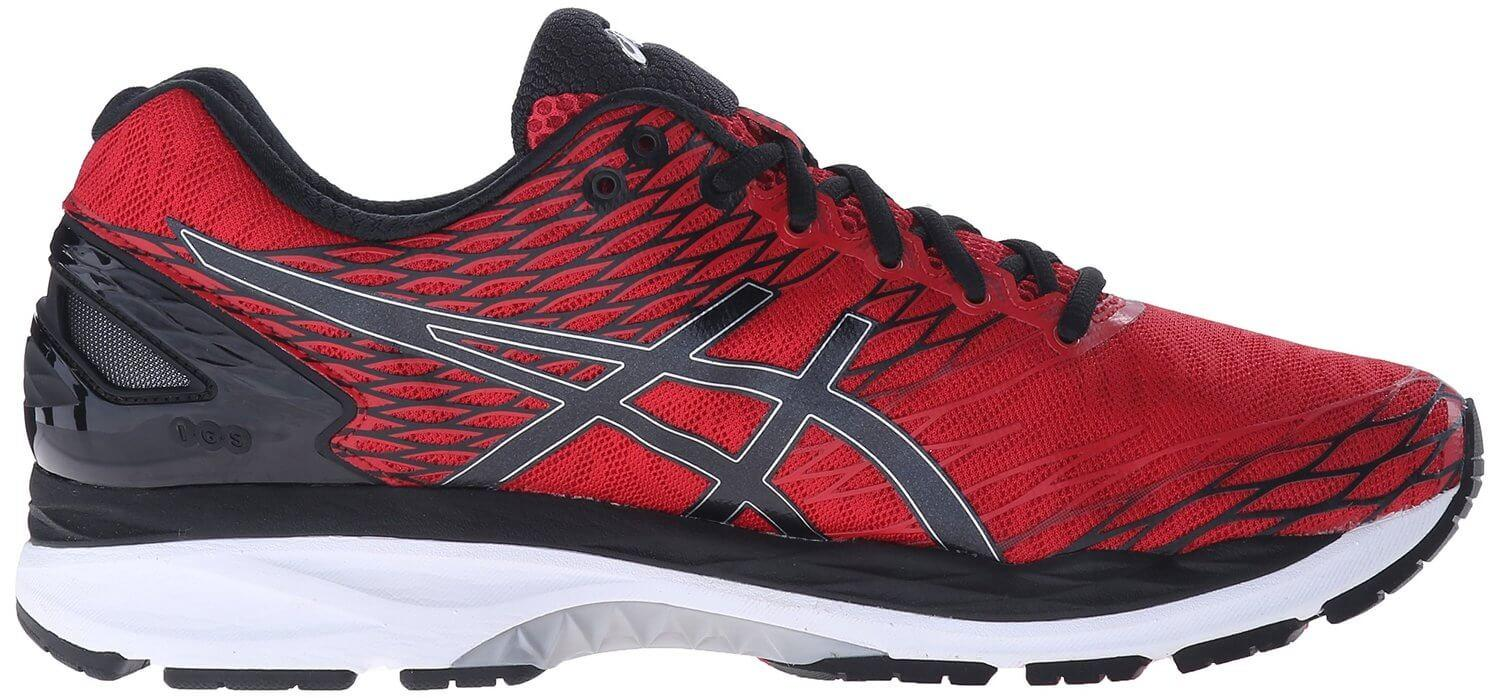 Gel in the Asics Gel Nimbus 18's midsole provides lightweight cushioning.