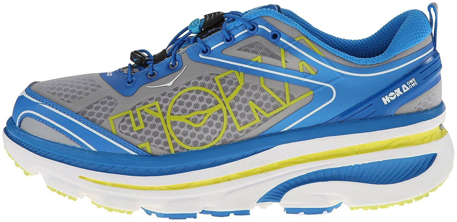 the Hoka One One Bondi 3 is a maximalist shoe that is a good introductory shoe for runners transitioning to this style