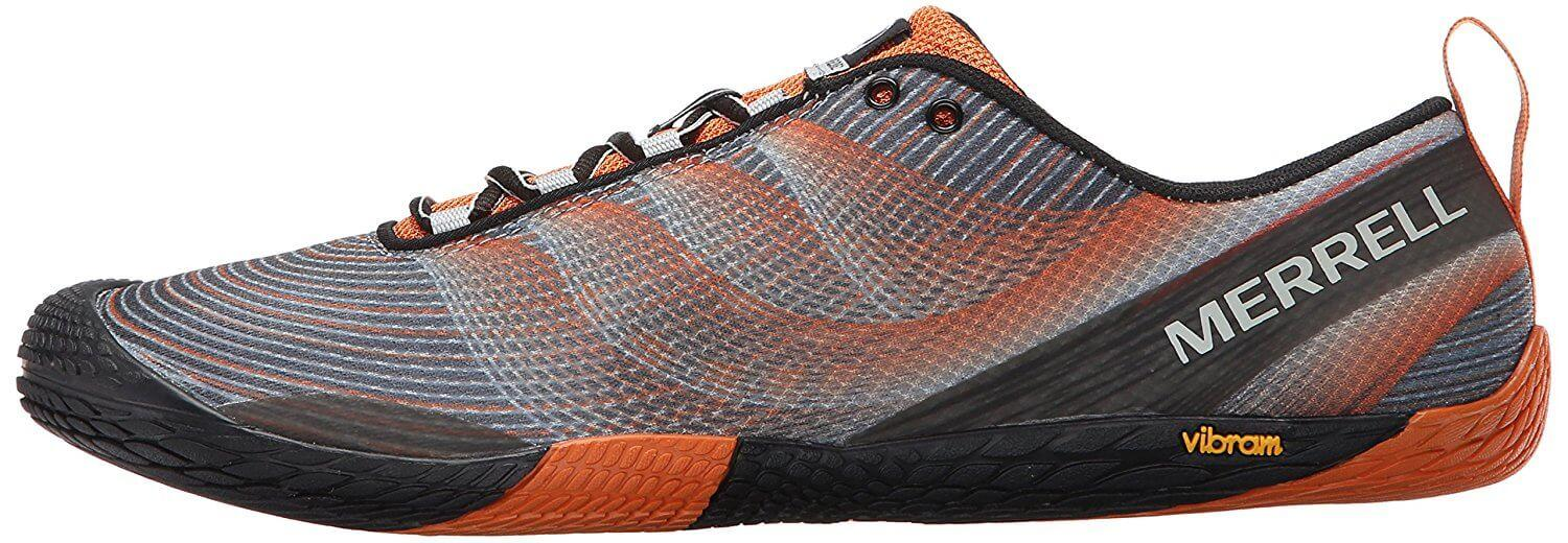 the Merrell Vapor Glove 2 has a 0mm drop that gives a natural feel when running