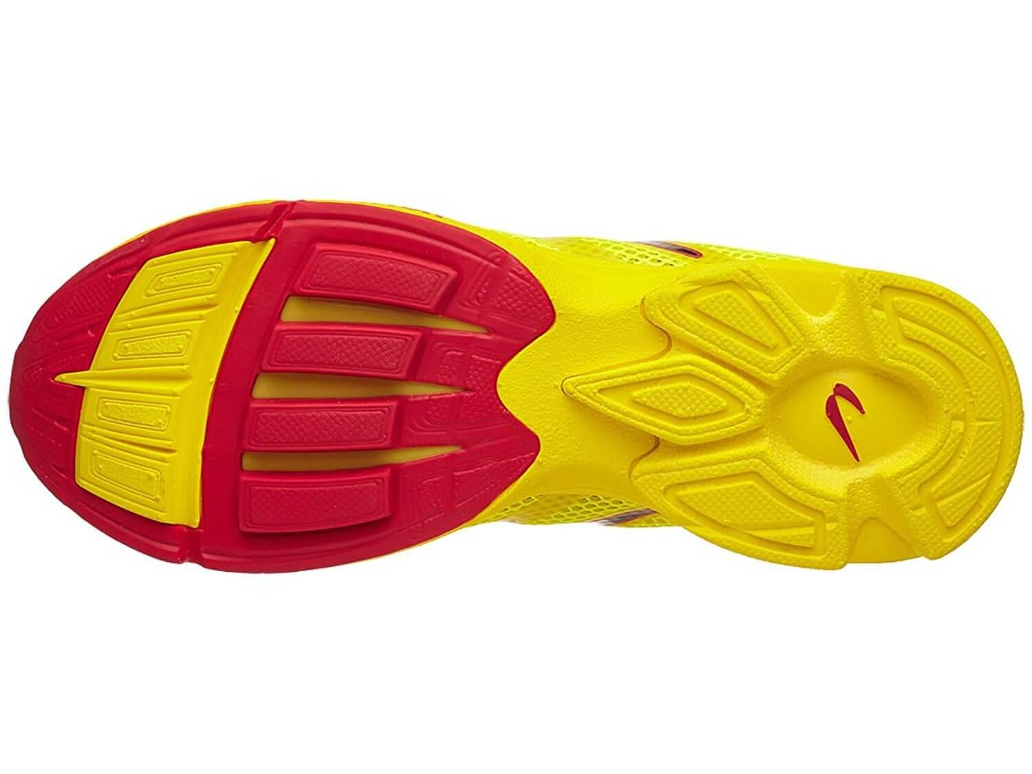 the outsole of the Newton Distance Elite features Newton's unique pattern for optimal traction
