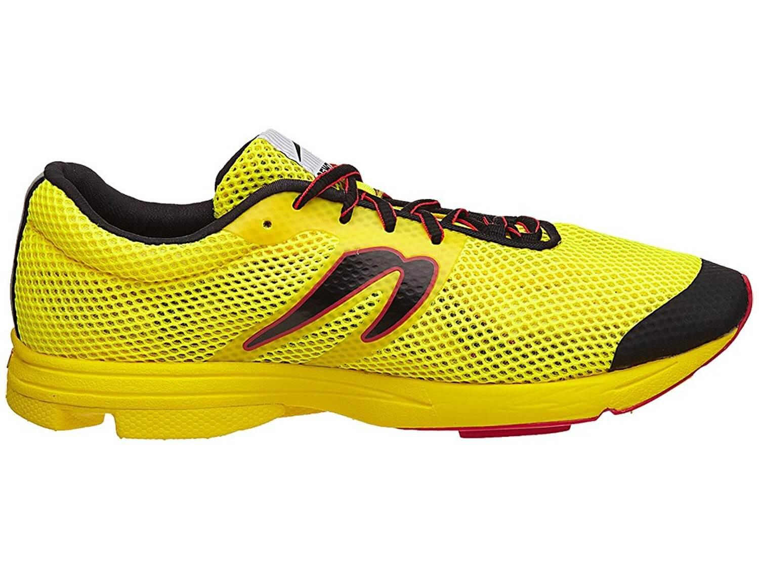the Newton Distance Elite is a low-cut, low drop running shoe that features great surface control and ground feel