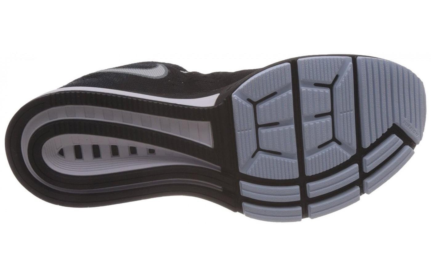 A highly stable and stylish outsole can be seen on the Nike Air Zoom Vomero 10.