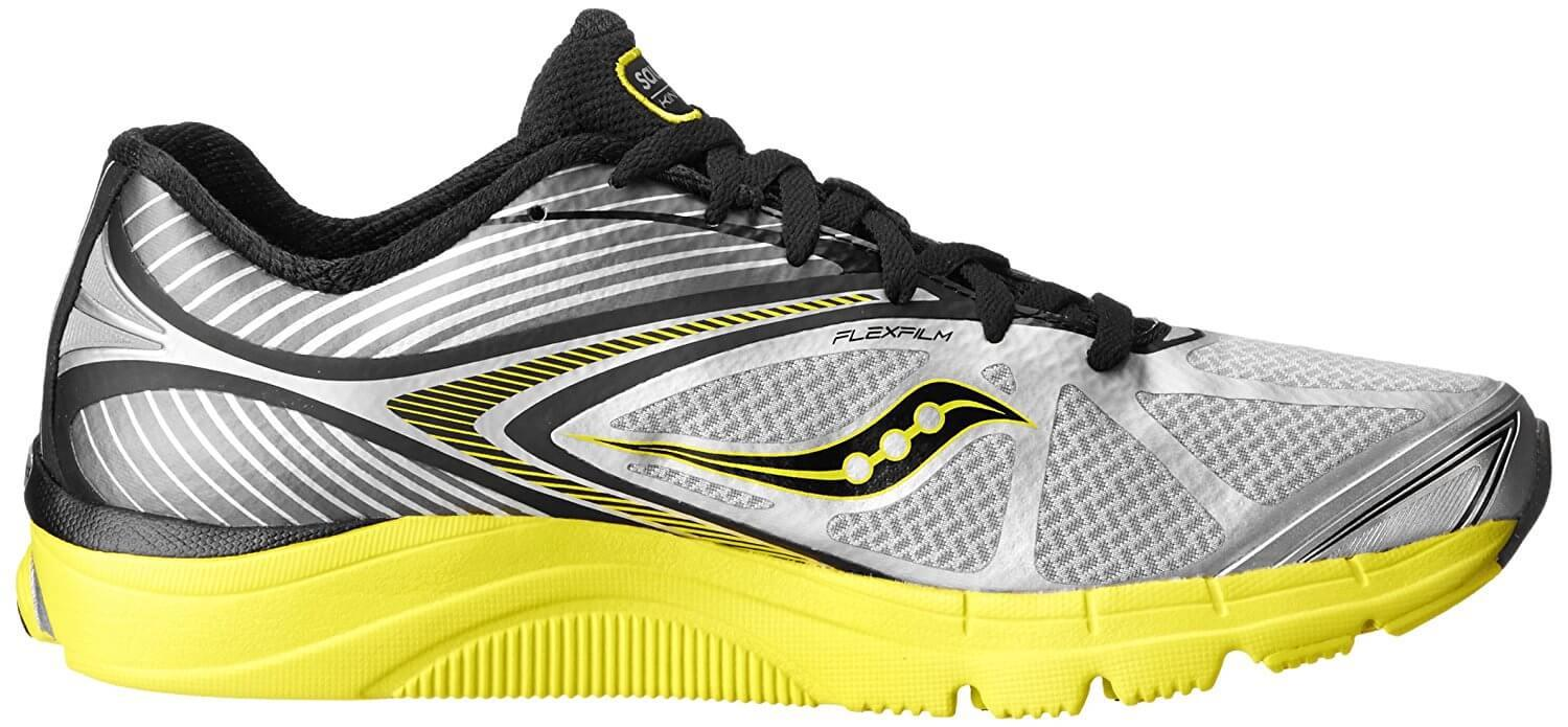 the Saucony Kinvara 4 has a thick outsole that is comfortable and absorbs the shock of impact