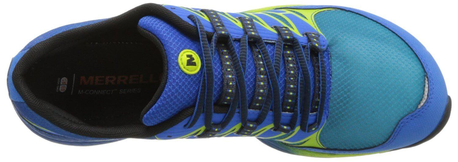 the upper of the Merrell AllOut Fuse is made of highly breathable AirMesh