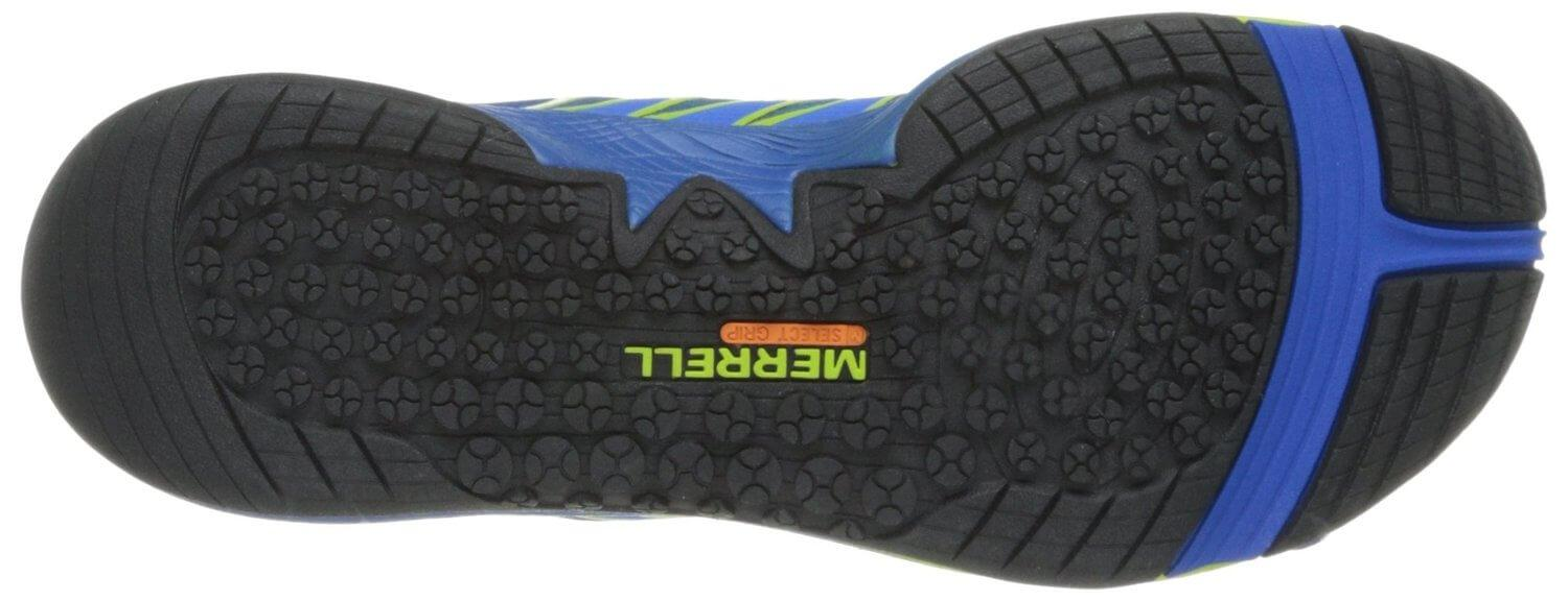 the traction on the outsole of the Merrell AllOut Fuse makes it a solid all-terrain shoe