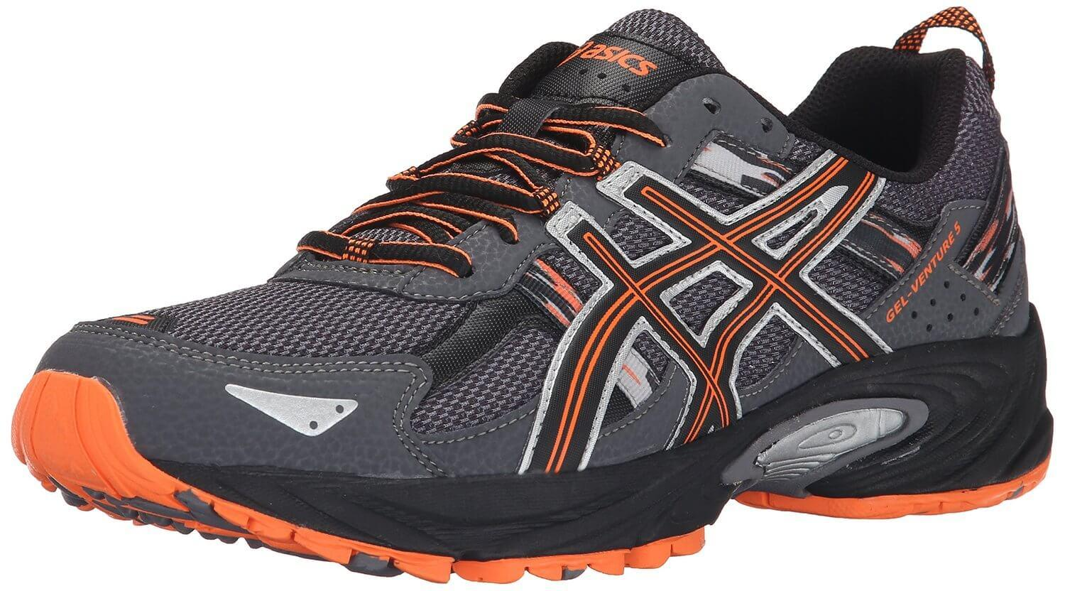 the Asics Gel Venture 5 is a low-cut trail running shoe that offers a ...