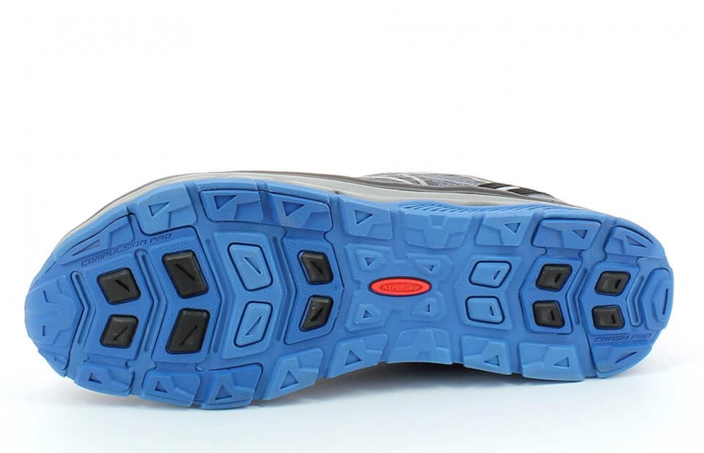The treads on the Treksta Mega Wave's outsole are less pronounced than most other trail shoes.