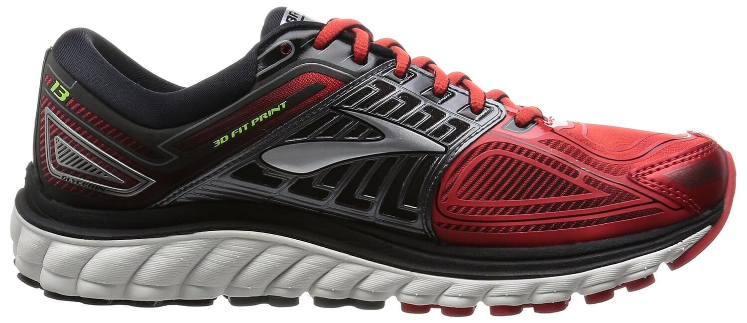 The Brooks Glycerin 13 has a Super DNA midsole that provides 25% more cushion than previous models.