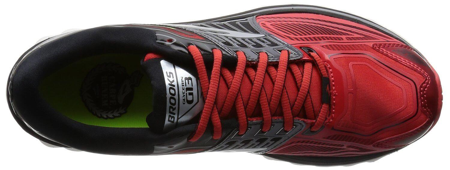 3D printing technology was used in the design and manufacture of the Brooks Glycerin 13's upper.