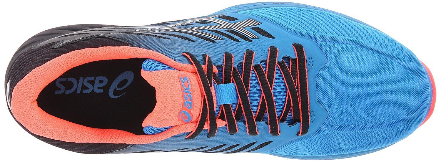 The upper portion of the Asics FuzeX is snug and supportive.