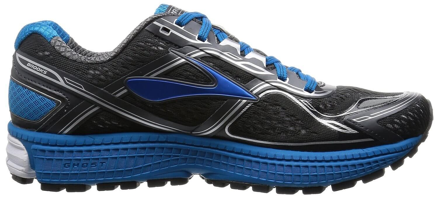 A firmer yet thinner design was used for the Brooks Ghost 8's midsole.