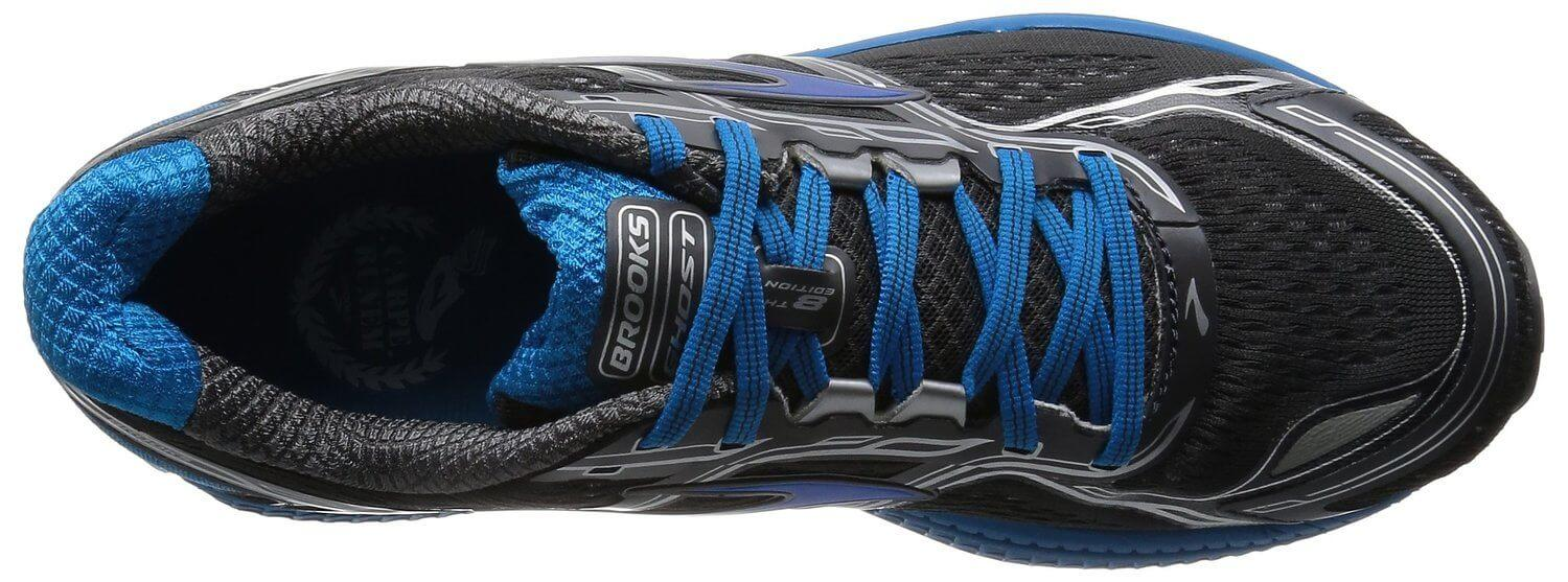 Sweat-wicking mesh in the upper helps the Brooks Ghost 8 feel cool and dry.