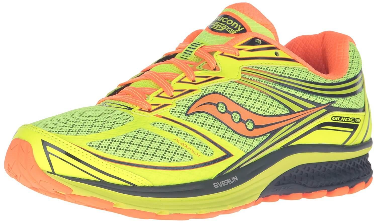 the Saucony Guide 9 is a stability shoe that features a good amount of cushioning