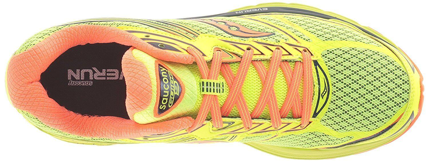 the upper of the Saucony Guide 9 is highly breathable