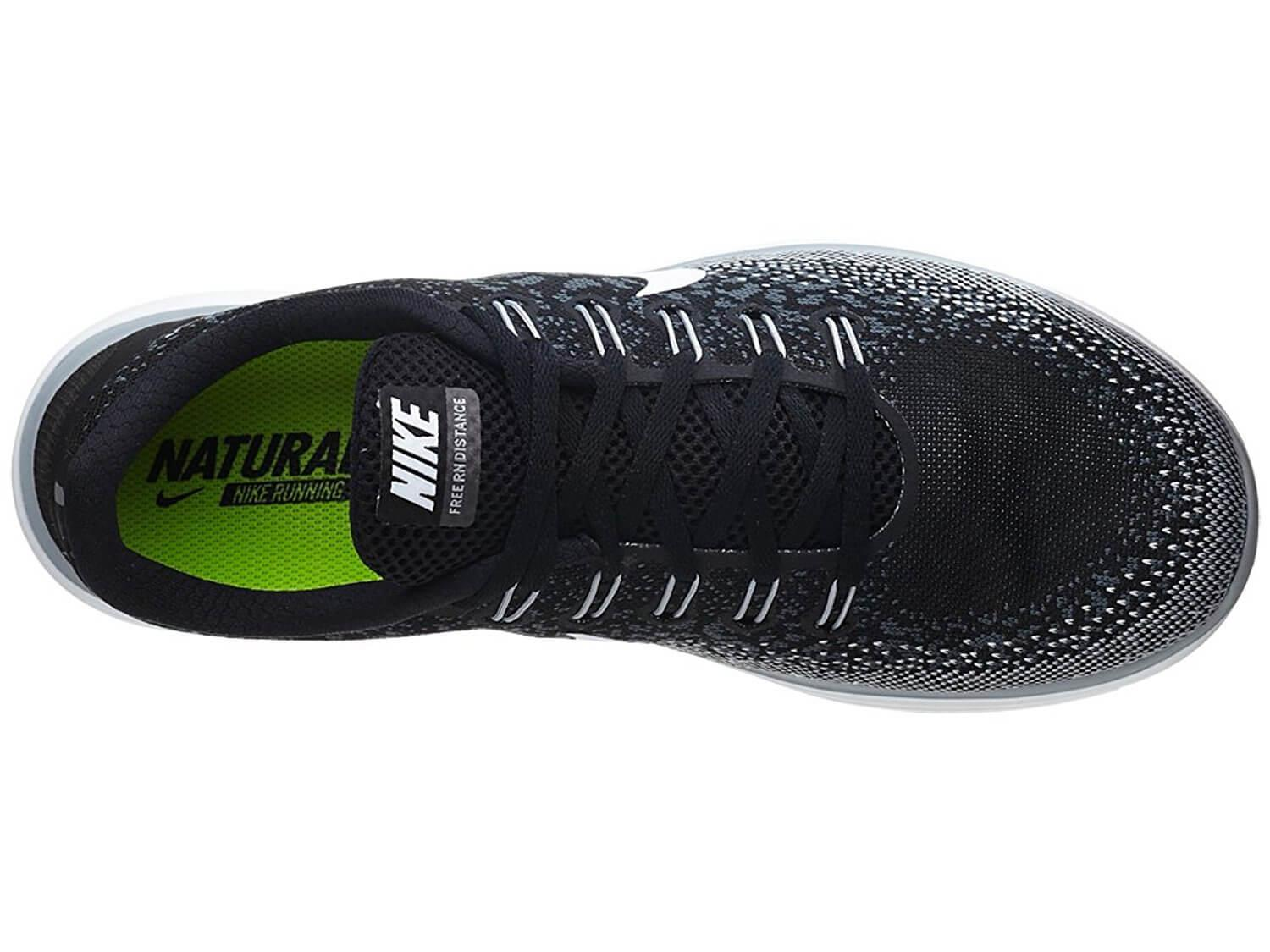 A single-layer knit upper on the Nike Free RN Distance helps to keep weight low and breathability high.