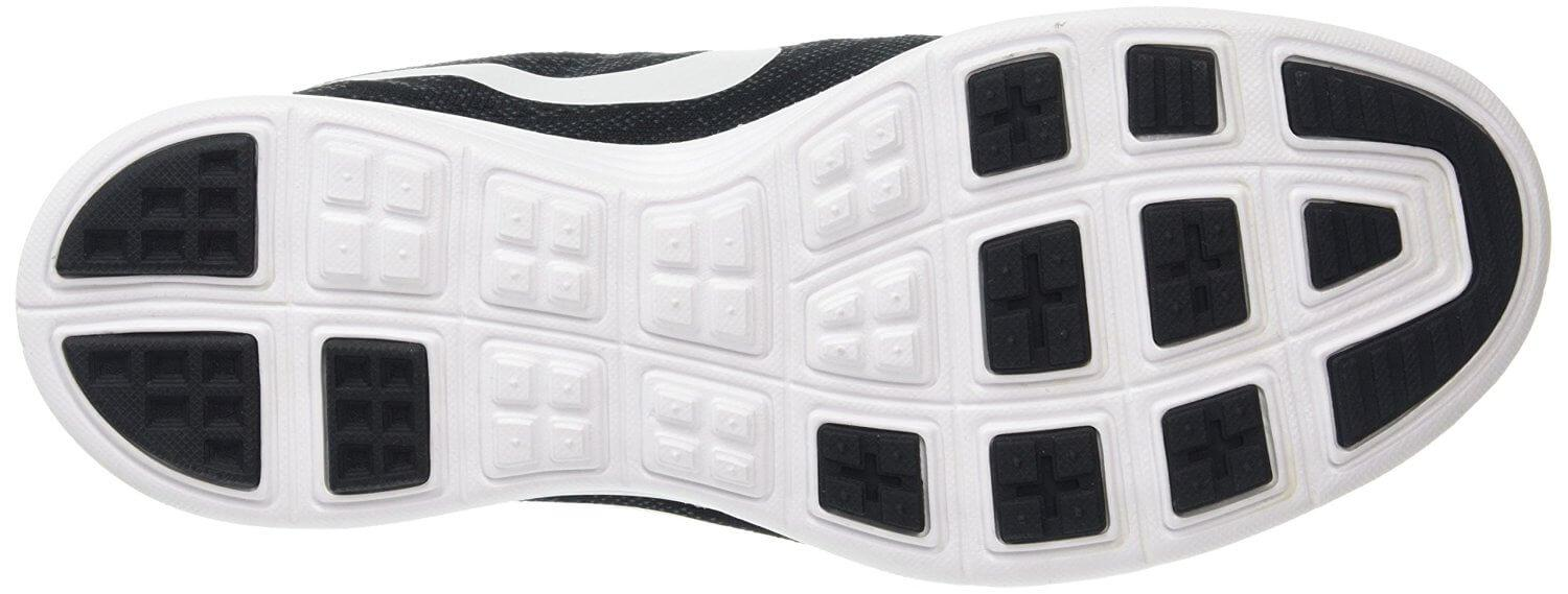 The Nike LunarTempo 2's outsole uses a waffle treading to improve traction.