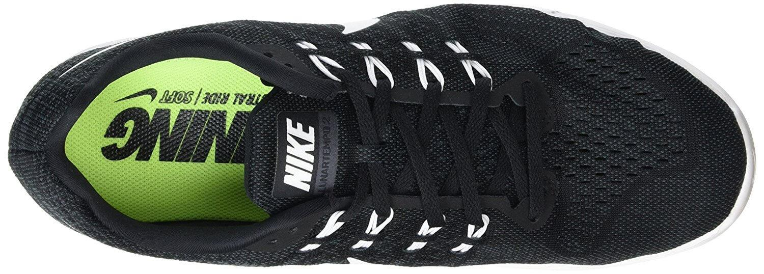 Extra foam in the Nike LunarTempo 2 around the heel and tongue provide extra comfort.