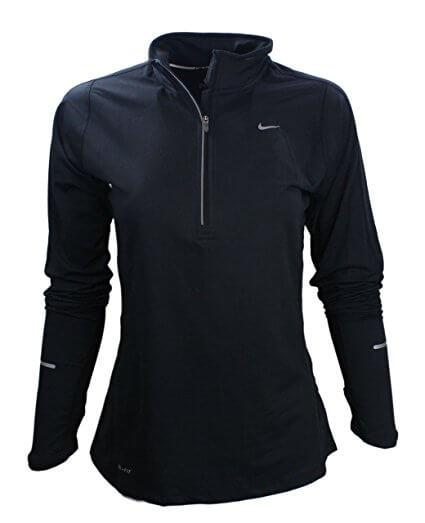 Nike Element Half-Zip Women's Long Sleeve Pullover athletic running.