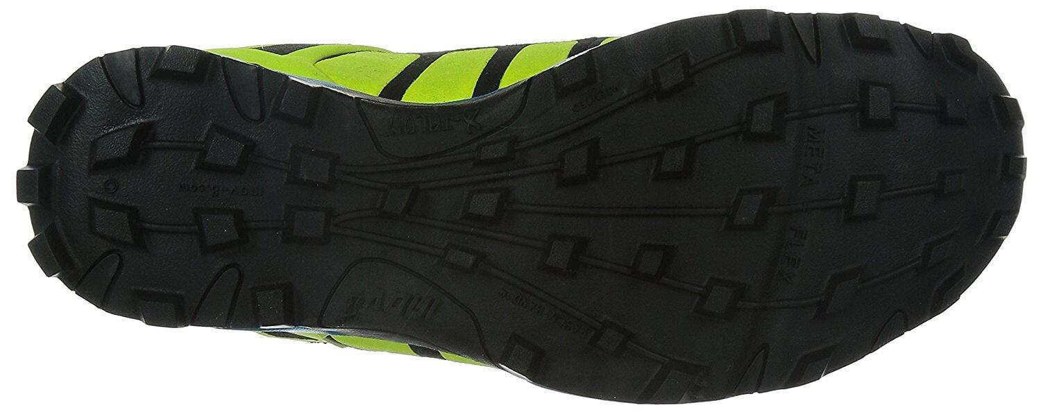 the outsole of the Inov-8 X-Talon 212 provides a great amount of traction over difficult terrain