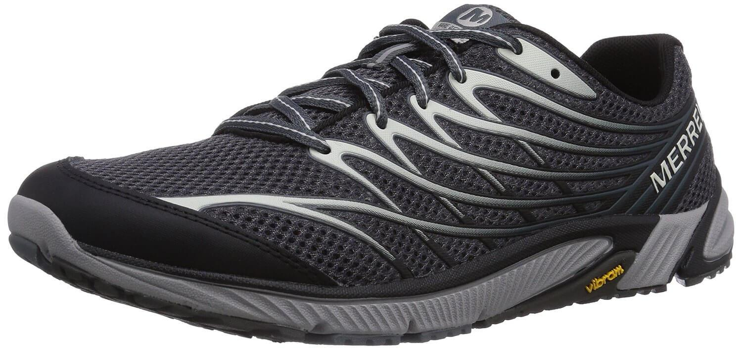 the Merrell Bare Access 4 is a sleek, minimalist running shoe that offer superior control during a run