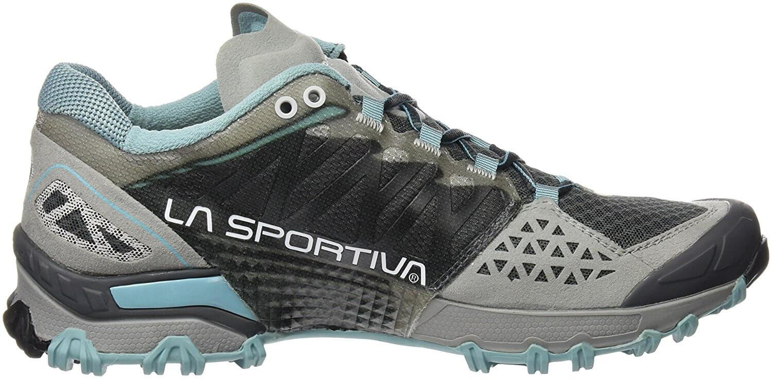 the low profile of the La Sportiva Bushido allows for freedom of movement when on the trail