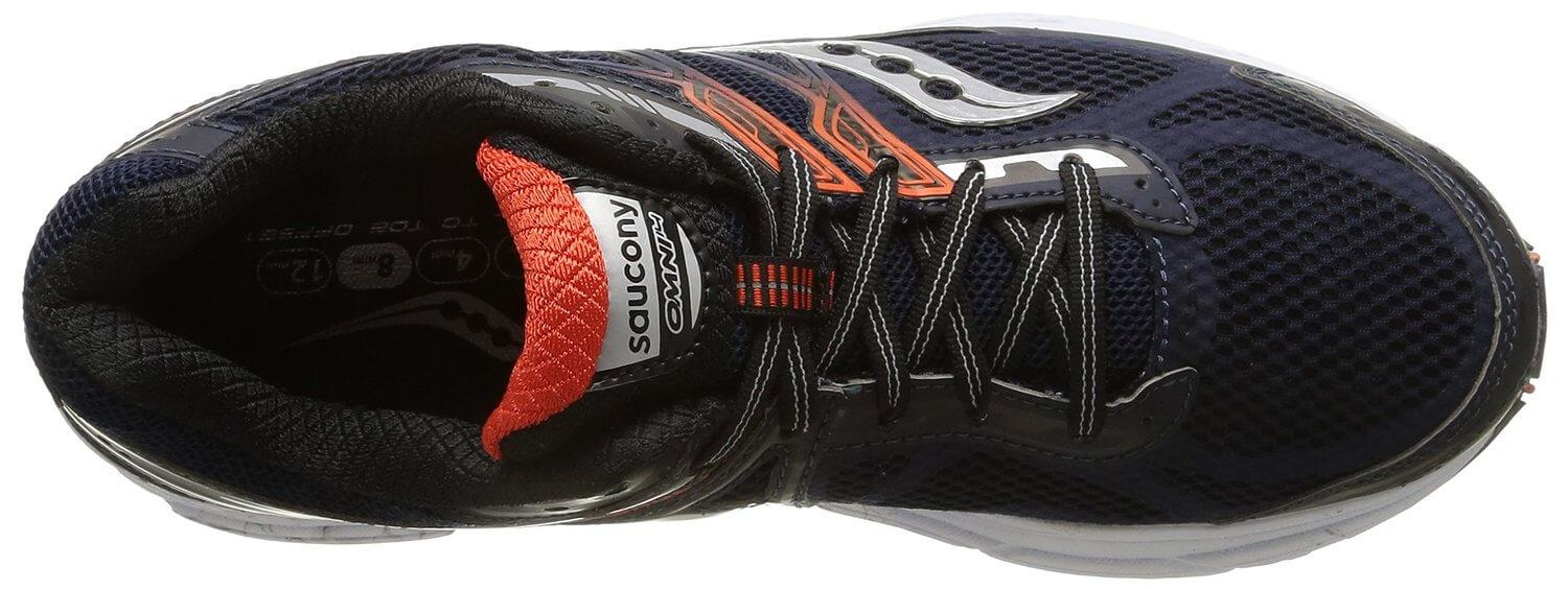 Technology implemented into the Saucony Omni 14 encourages pronation correction.