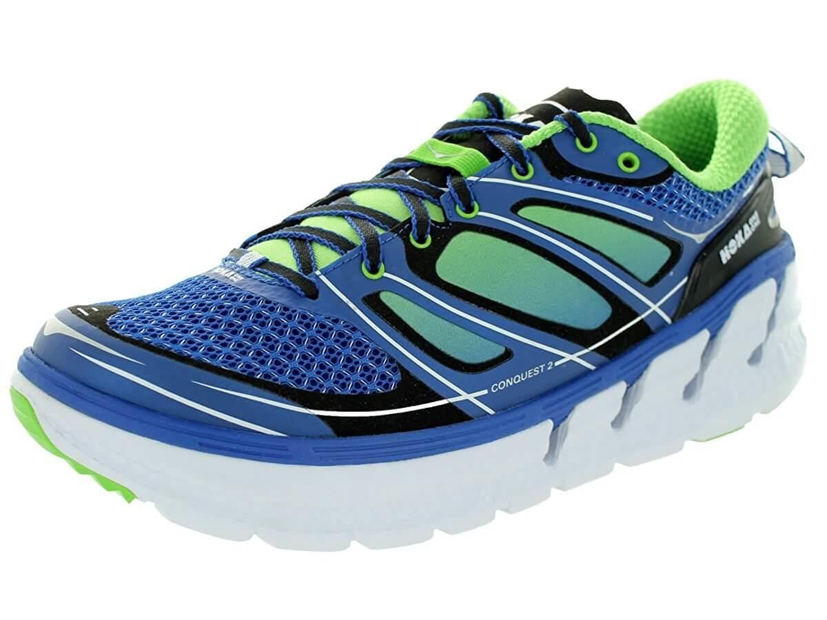 the blue version of the Hoka One One Conquest 2
