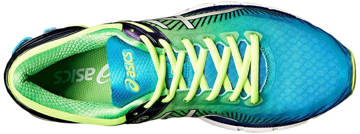 the Asics Gel Kinsei 6 has a highly breathable upper that's comfortable after lace-up