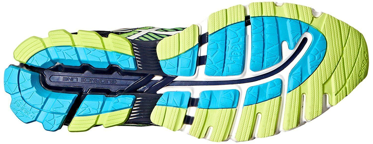 the Asics Gel Kinsei 6 has numerous flex grooves cut into the outsole for a great amount of flexibility