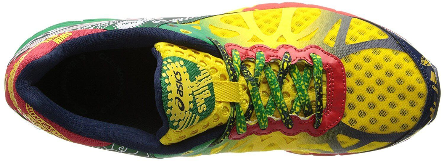 the upper of the Asics Gel Noosa Tri 9 is highly breathable and flexible