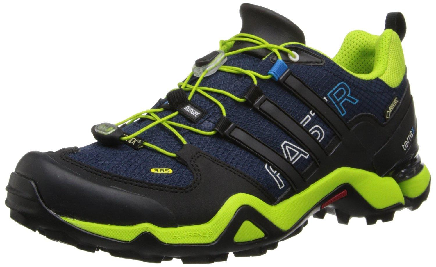 The Adidas Terrex Fast R GTX is a shoe designed for use on trails and mountain paths.