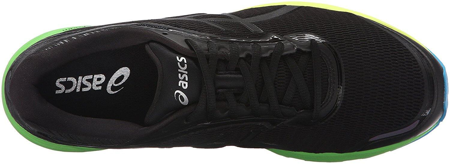 the upper of the Asics Dynaflyte is breathable and comfortable on a long run
