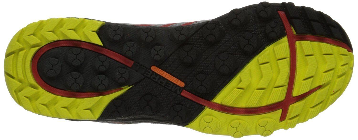 Despite its hard texture, the outsoles of the Merrell All Out Charge are very flexible.