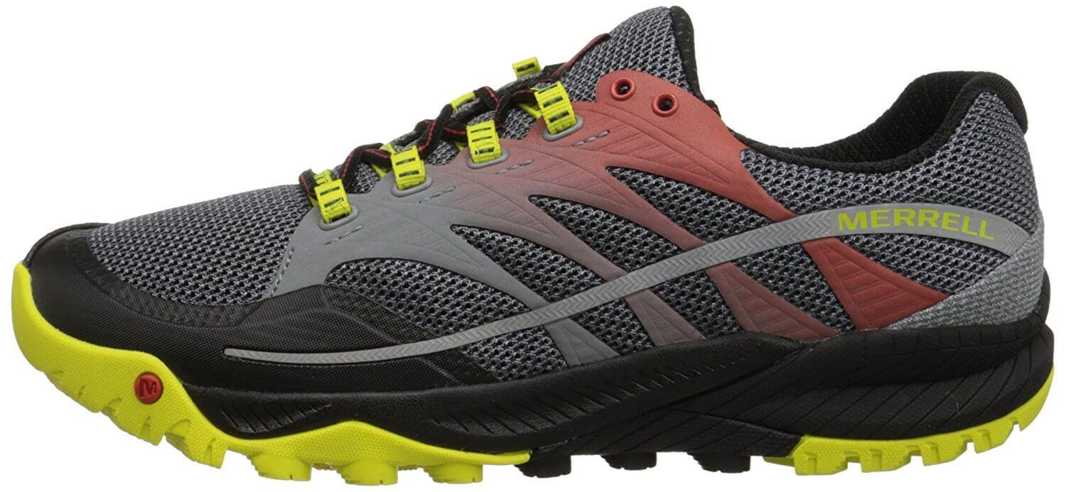 The Merrell All Out Charge features a minimalist style.