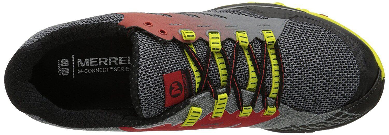 The upper portion of the Merrell All Out Charge is highly breathable and heat resistant.