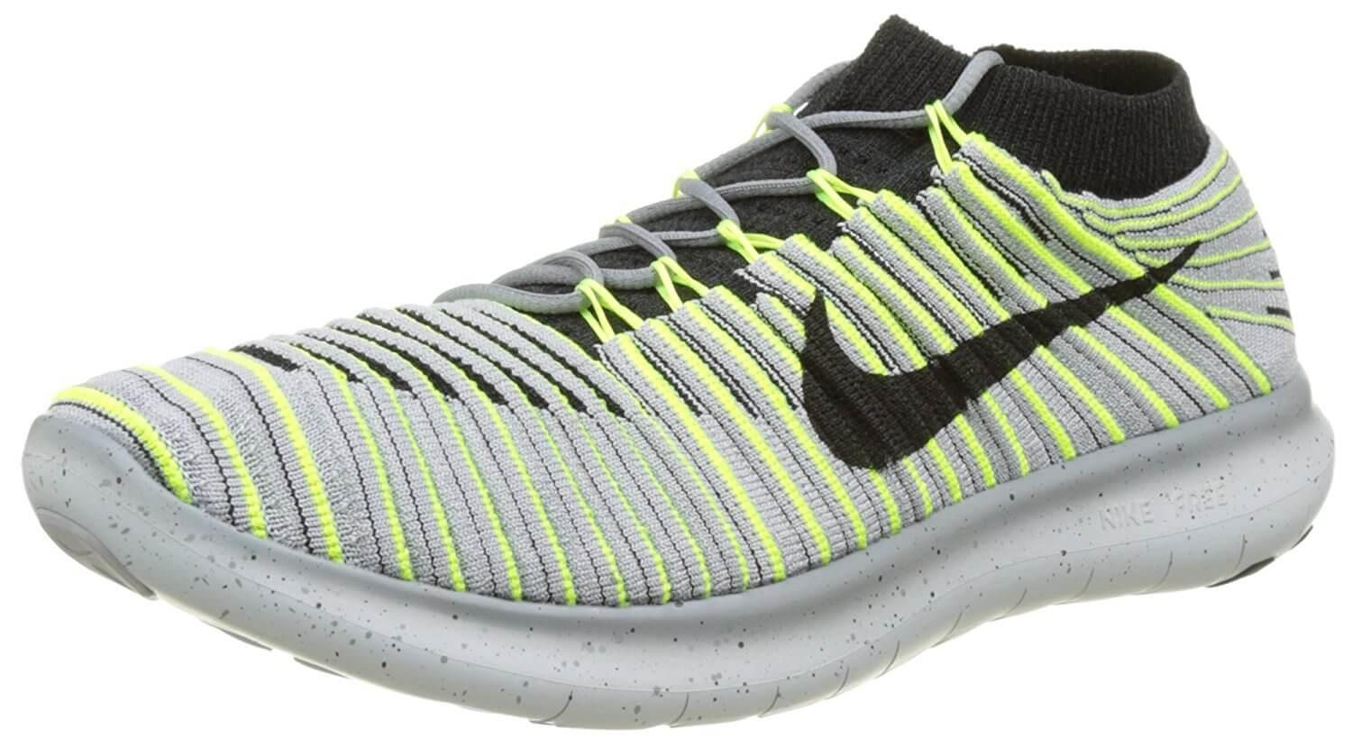 The Nike Free RN Motion Flyknit was designed to accommodate barefoot-style runners.