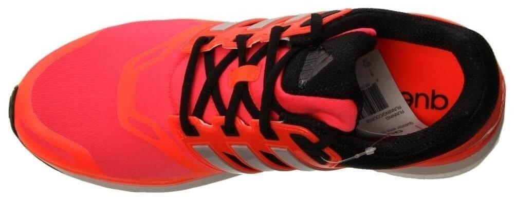 Shiny molded pieces on the sides of the Adidas Questar Boost's upper allows for visibility in low light.