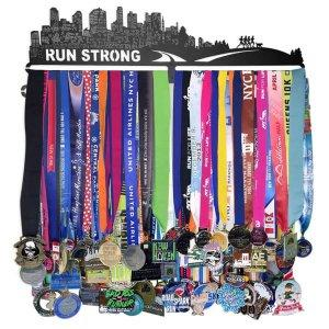 Best Running Medal Art: Gone for Run RUN STRONG Extra Long Medal Holder