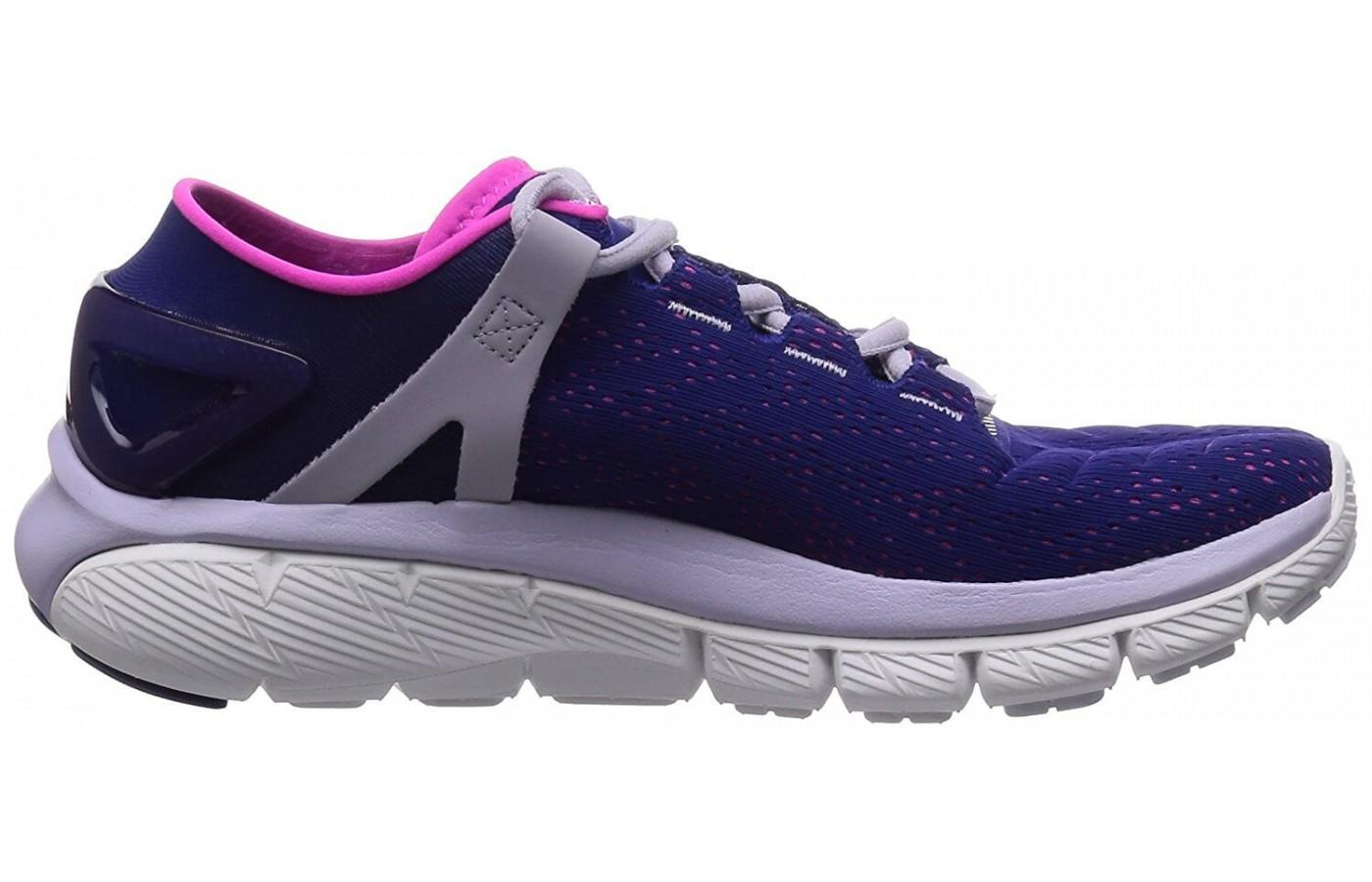 side view of the Under Armour SpeedForm Fortis showcasing it's superior cushoning