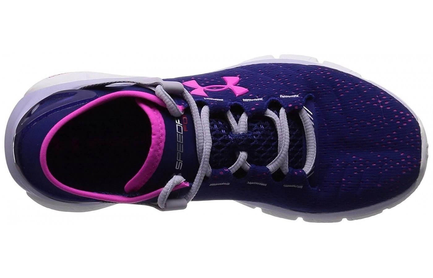 shot from above of the Under Armour SpeedForm Fortis