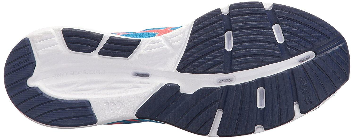 Great traction can be found on the sole of the Asics Gel Hyperspeed 7