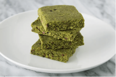 8. Matcha Chip Protein Squares