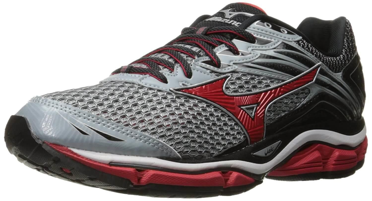 Mizuno Men's Red Silver Wave Enigma 5 Shadow Performance Running Shoes dark Shin Timeless Classic