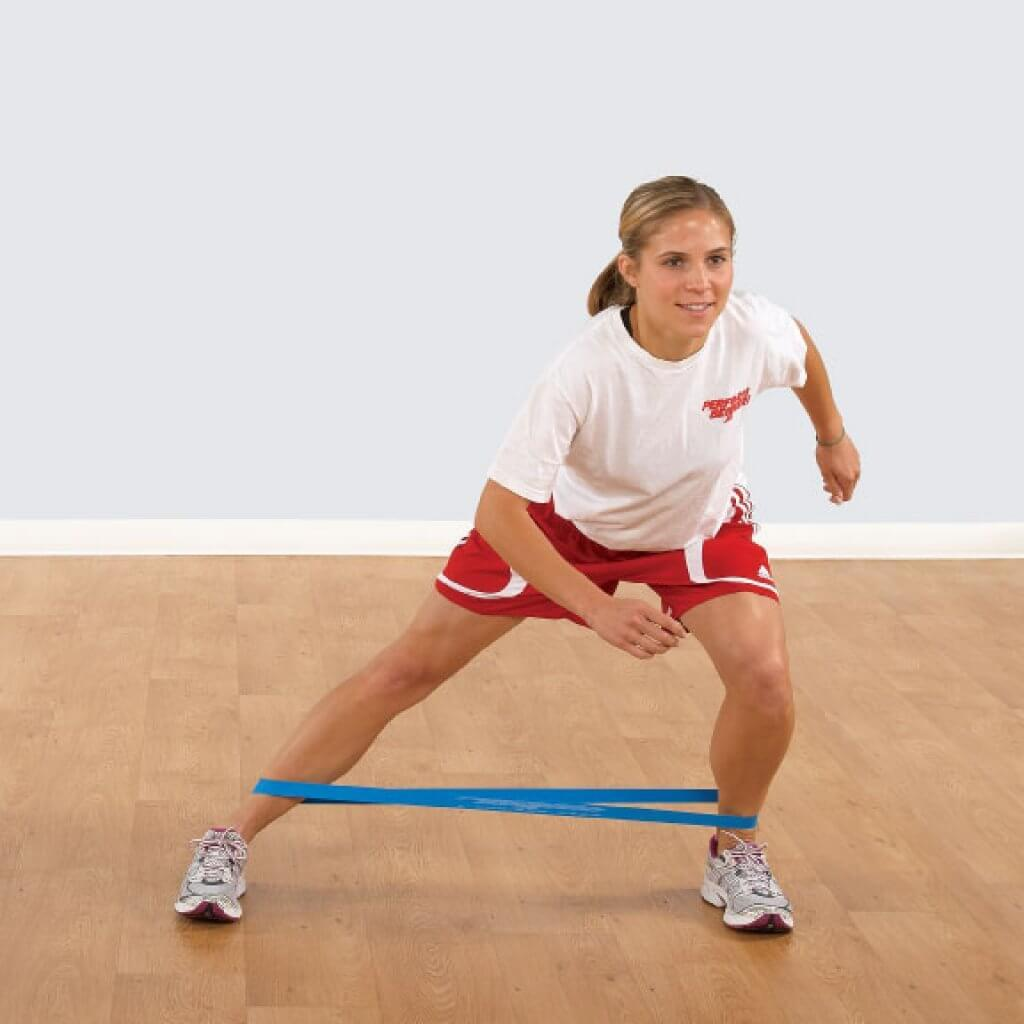 Patellar Tendonitis exercise with an elastic band