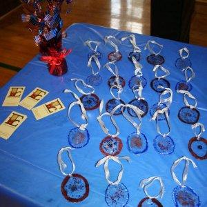 Fireworks Glass Medals