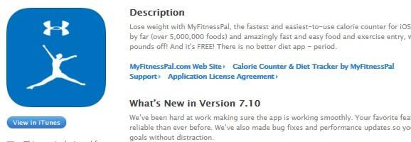 6. My Fitness Pal